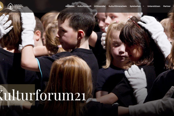 Kulturforum21 - Webdesign by another one Hamburg